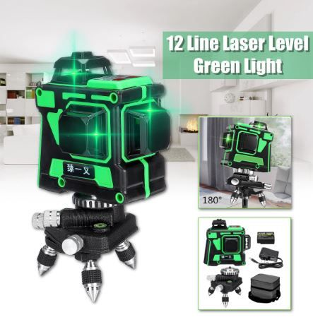3d Green Beam Laser Level 12 16 In 2020 Laser Levels Green Laser Laser
