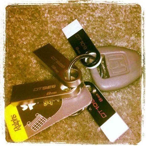 My Keys Full of USBs #USB #Kingston