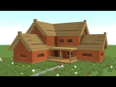Minecraft How To Build Big Wooden House 3 Youtube Cool Minecraft Houses Minecraft House Designs Easy Minecraft Houses
