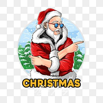 Santa Claus Wears Dark Glasses At The Christmas Party Vector Audio Background Beard Png And Vector With Transparent Background For Free Download Holiday Illustrations Special Images Santa Claus
