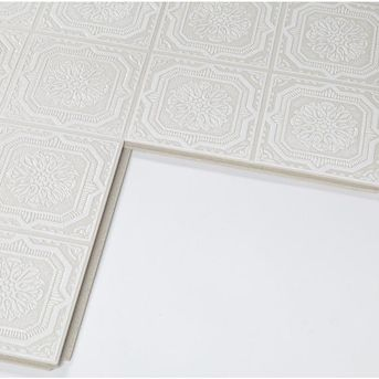 Armstrong Ceilings Common 12 In X 12 In Actual 11 985 In X 11 985 In Tinlook Wellington 40 Pack White Metal Tin Surface Mount Acoustic Tile Ceiling Tiles L In 2020 Ceiling Tiles White Metal Metal Tins