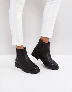 Asos Admirer Flache Chealsea Ankle Boots Ankle Boots Schwarz Boots Damen Schwarz Stiefeletten Damen