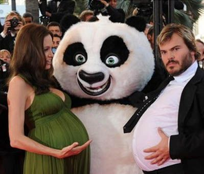Jack Black & Angelina Jolie...idk why, but this picture cracks me up, he just looks so serious