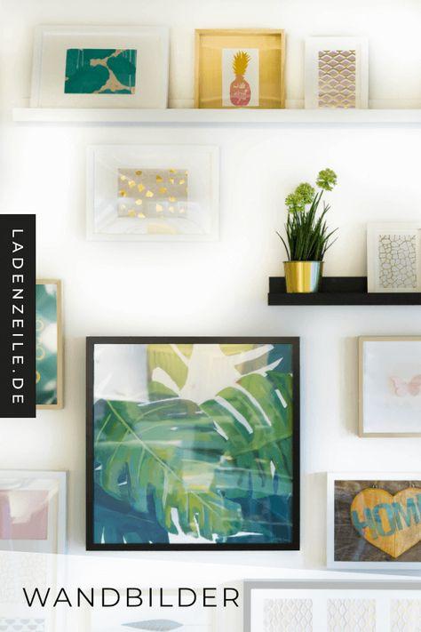 Eine individuelle Dekoration gestaltest du mit Wandbildern. Wähle Motive und Rahmen passend zu deinem Wohnstil und stimme sie auf Farben und Materialien im Zimmer ab. Auf LadenZeile findest du eine große Auswahl an Bildern mit denen du Wohnzimmer, Schlafzimmer oder Flur charmant dekorieren kannst. #bilder #wandbilder #wanddeko
