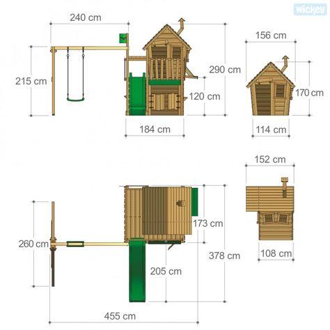 Spielturm CountryCow Maxi XXL mit schaukel  810138_k