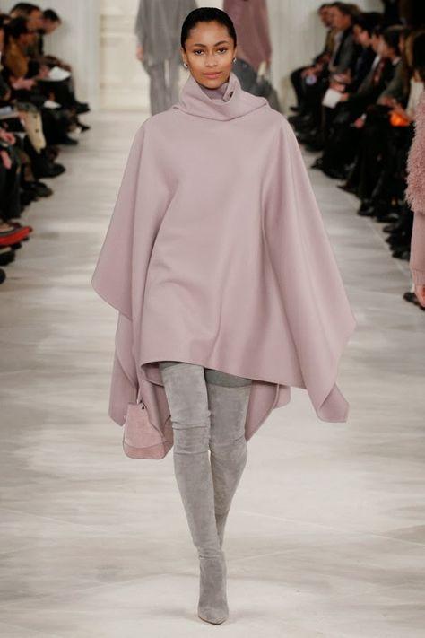 Cinza + Rosa, o combo perfeito - Ralph Lauren, NYFW, 2014 - Gosto Disto!