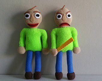 Baldis Basics Plushies Etsy Toys Plush Horror Video Games