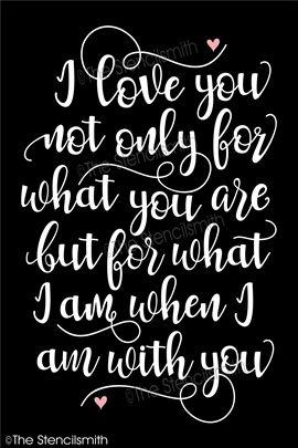 Te amo no sólo por lo que son la plantilla pero soy cuando estoy contigo que estoy