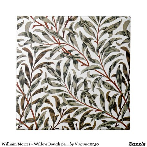 William Morris - Willow Bough pattern Small Square Tile