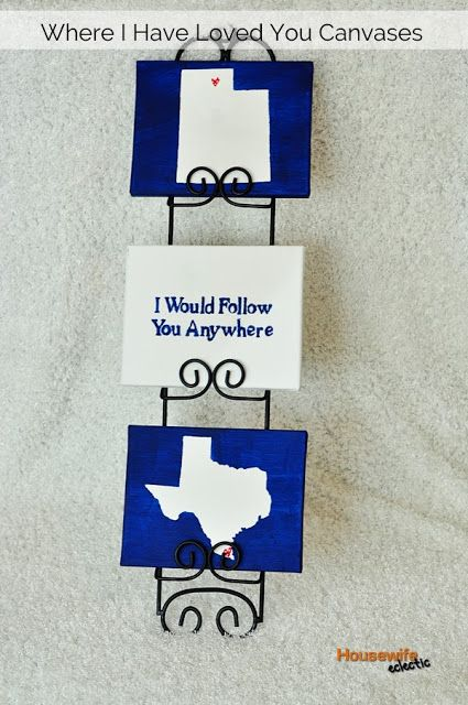 Housewife Eclectic: Where I Have Loved You Canvases (State Canvases)