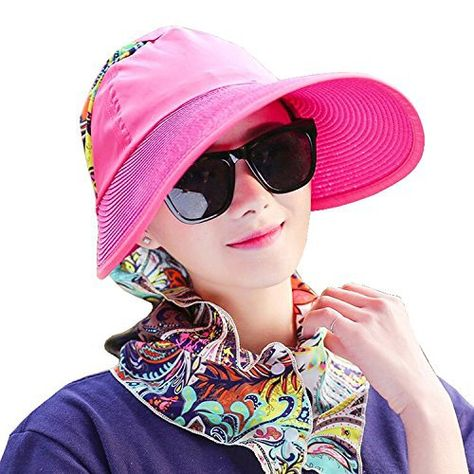 fbaeb7757c704 Madehappy Fashion Sun Hats Wide Brim UV Protection Summer Beach Packable  Visor Flap Cover Cap Top quality skin-friendly straw material.