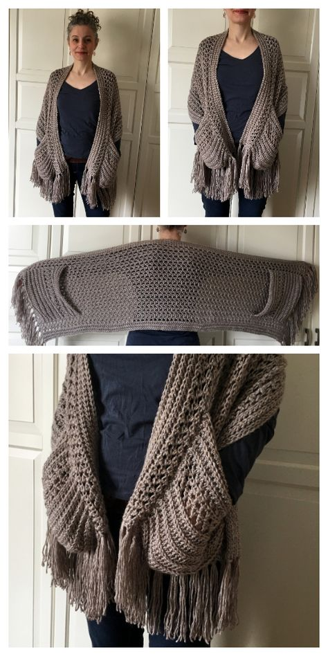 Crochet Prayer Shawls, Crochet Shawl Free, Crochet Wrap Pattern, Crochet Shawls And Wraps, Crochet Scarves, Crochet Clothes, Crochet Hats, Scarves & Shawls, Free Crochet Sweater Patterns