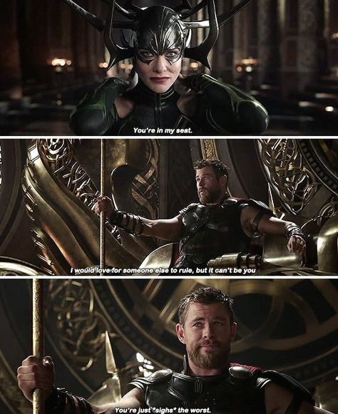 You're just... the worst #Thor #Hela #Marvel>>who else thought of that scene from emperors new groove haha