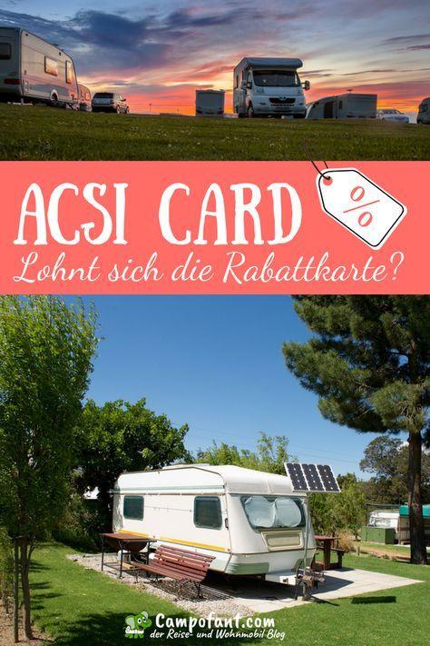 Acsi Karte.Acsi Card Camping Lohnt Sich Die Campingkarte Dekogen