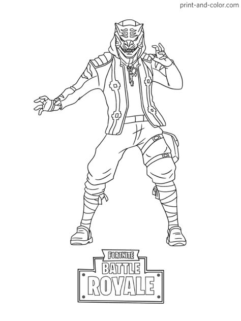 Fortnite Battle Royale Coloring Page Powder Skin Female