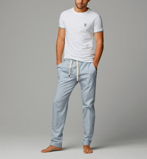 NEW Mens Tom Franks Lounge//Pyjama Navy /& Denim Blue