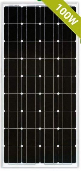 100 Watt 12 Vdc Narrow Solar Panel Easy To Install Nice Narrow Design Helps You Fit This On Your Rv Or Boat Small Solar Panels Solar Panels Solar Energy Panels