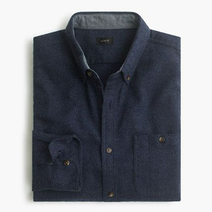 This handsome shirt is woven with a blend of cotton for lightness and wool for some added warmth for the days when the temperature starts to sink. We also added elbow patches for a polished rustic look. Classic fit.Cotton/wool.Button-down collar.Chest pocket with pen holder.Machine wash.Import.