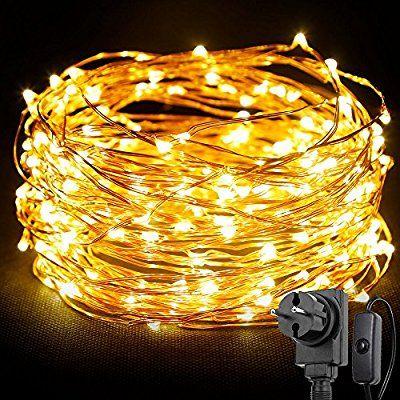LED 200 Sterne Lichterkette 20m warmweiss In-Outdoor Weihnachten Xmas