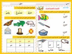 حرف السين بالحركات Language Arabic Grade Level Grade 1 School Subject اللغة العربية Main Content اللغة العربي Arabic Kids Online Activities School Subjects