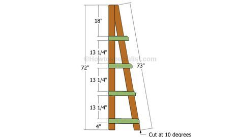Ladder Shelves Plans Ladder Shelf Bookshelves Diy Diy Plans