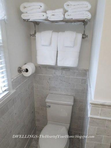 Guest Bath Idea For More Storage Bathroom Ideas Towel Rack Over Toilet Toilet Storage