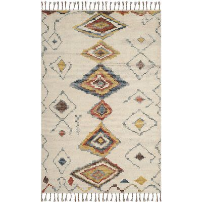 Glenoe Hand Knotted Ivory Area Rug Rugs Colorful Rugs Area Rugs