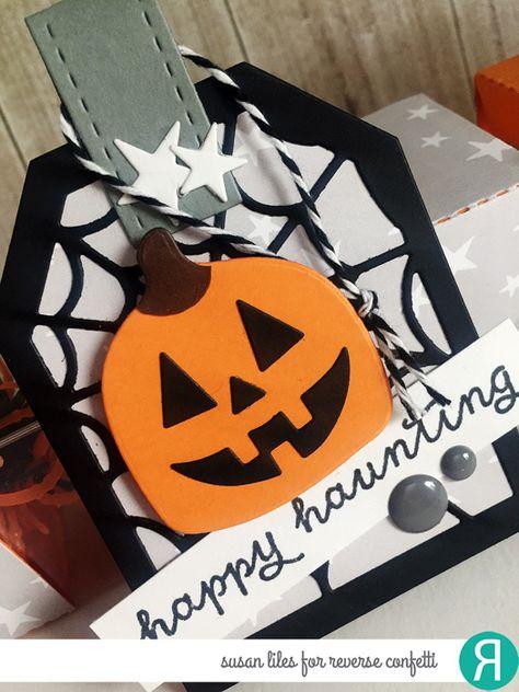 6 - Six Pumpkin Treat Boxes Pumpkin Treat Box Autumn Treat Box Halloween  Treat Box- Thanksgiving Favor Box
