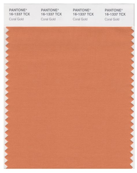 Pantone Smart 16-1337 TCX Color Swatch Card | Coral Gold | Magazine Cafe Store NYC USA