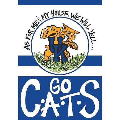 Kentucky Wildcats Banner and Scroll Sign