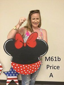 M61b - Minnie Mouse Door Hanger - Disney Door Hanger - Disney Chalkboard Door Hanger