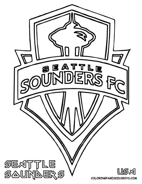 Soccer Coloring Sheets Sounders Soccer Seattle Sounders Logo