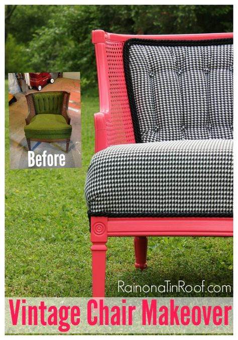 Rain on a Tin Roof.com does a great job upcycling this chair.