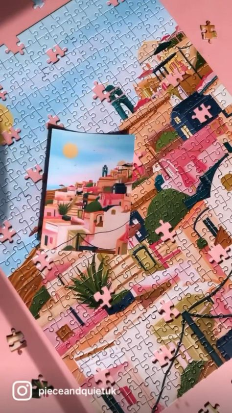 The best jigsaw puzzles in the UK by the best artists in the UK. SERENITY IN SANTORINI.
