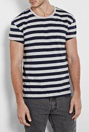Navy Grey Stripe 50s T-Shirt by Levi's