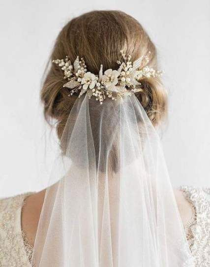64 Trendy Wedding Hairstyles Bride Veils Floral Wedding Hair Wedding Hairstyles With Veil Hair Styles