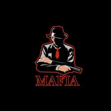 Mafia Logo Mascot E Sport Man With Fedora Hat And Pistol Mafia Gangster Logo Png And Vector With Transparent B Silhouette Man Photo Logo Design Bulldog Cartoon
