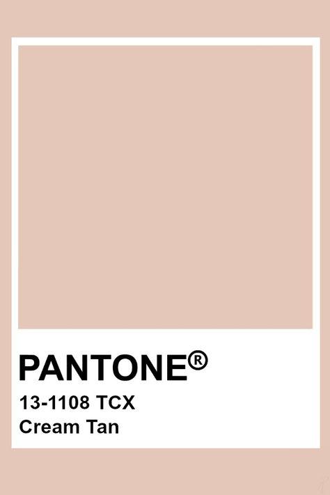 Pantone Cream Tan