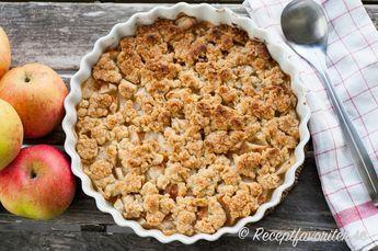 äppelkaka med havregryn och sirap