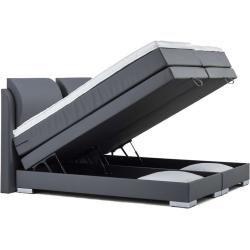Lonni Boxspringbett Inklusive Led Beleuchtung Material Kunstleder 180 X 200 Cm Mobel Einsmobel Ei Grau Blaue Mobel Und Boxspringbett