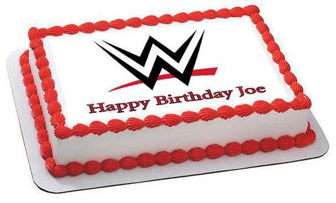 Outstanding Wwe Edible Birthday Cake Topper Or Cupcake Topper Decor In 2020 Personalised Birthday Cards Cominlily Jamesorg