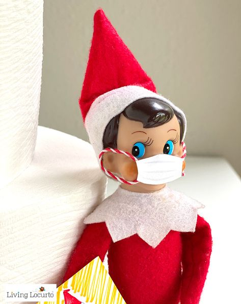 Free printable Elf Coloring Pages for kids. This funny elf is visiting kids with coloring pages a face mask and toilet paper during the quarantine. Printable Coloring Pages, Coloring Pages For Kids, Christmas Elf, Christmas Crafts, Christmas Carol, Christmas Colors, Awesome Elf On The Shelf Ideas, Der Elf, Elf Decorations