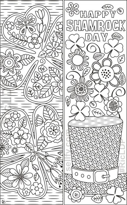 St Patrick S Day Coloring Bookmarks Free Adult Coloring Pages