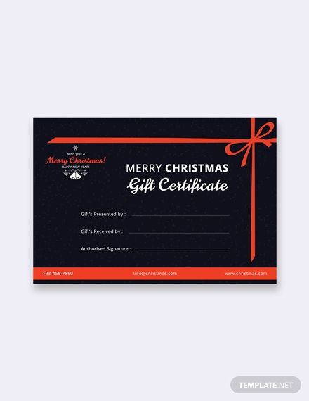 Free Merry Christmas Gift Certificate Template Word Doc Psd Apple Mac Pages Google Docs Publisher Gift Certificate Template Word Merry Christmas Gifts Christmas Gift Certificate Template