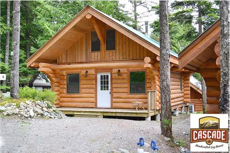 Our Log Cabins Are Handcrafted From The Finest Western Red Cedar And Douglas Fir Available And We Have Several Stock Cabin F Log Cabin Builders Log Homes Cabin