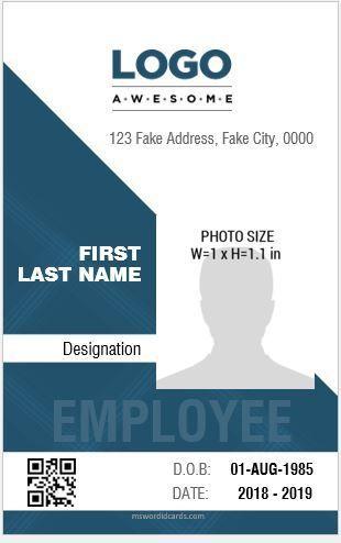 Blank State Id Template Free 35 Amazing Id Card Templates In Illustrator Ms Word 16 Id Badge Id Card Templa Id Card Template Employee Id Card Employees Card