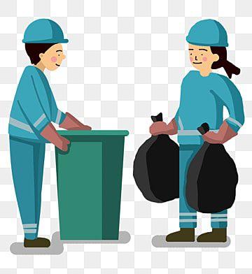 عمال النظافة و النفايات الكرتون ناقلات المواد تنظيف عامل يمكن القمامة Png وملف Psd للتحميل مجانا Cartoons Vector Cartoon Human Sketch