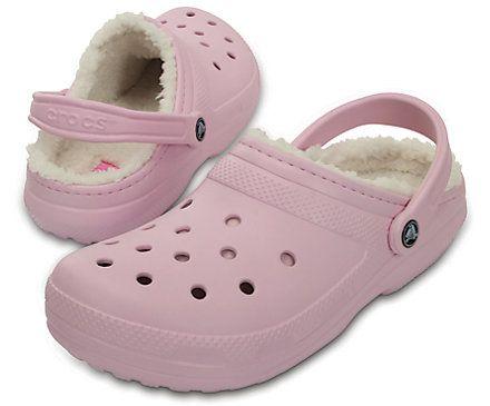 Classic Fuzz-Lined Clog - Crocs   Pink