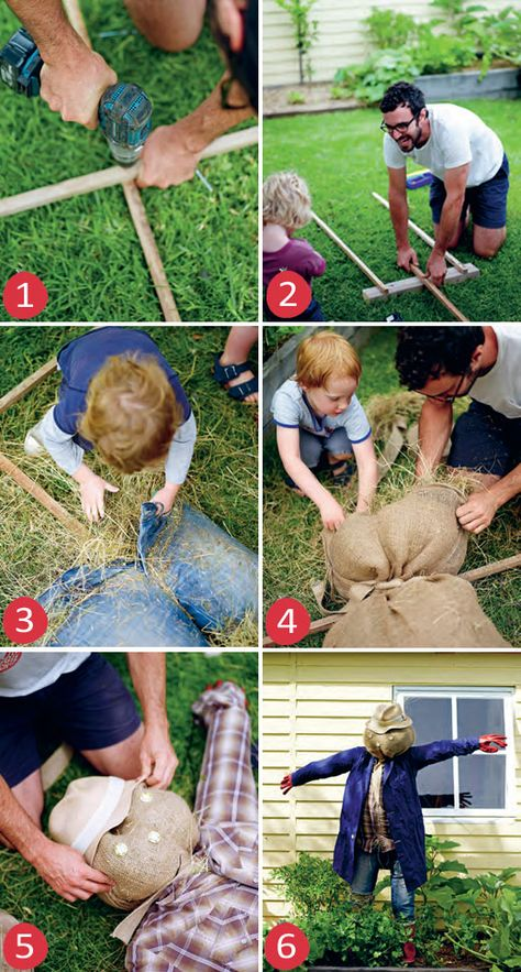 In the Garden with The Little Veggie Patch Co. - How to make a Scarecrow