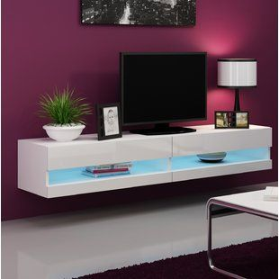 Ramsdell Tv Stand For Tvs Up To 80 By Nbsp Orren Ellis Floating Tv Stand Living Room Tv Tv Stand